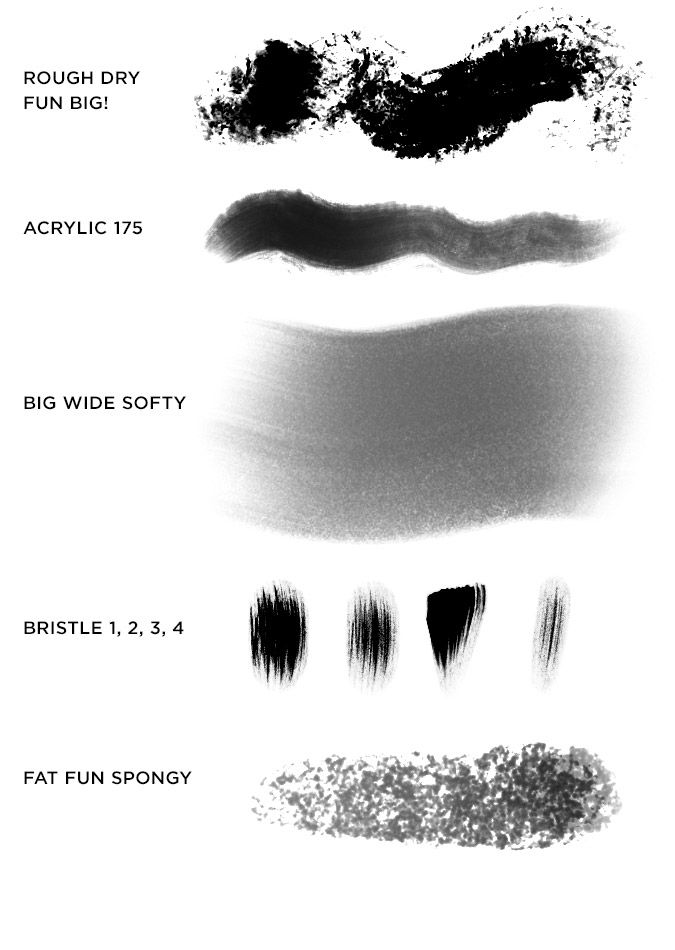 Kyle T Webster Megapack Brush Swatches Photoshop Design Graphic