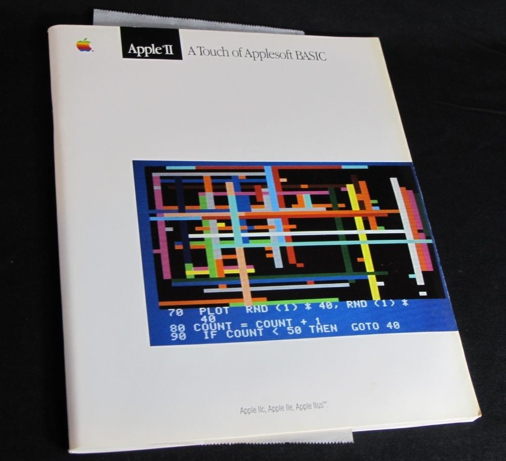 Apple II A Touch of Applesoft BASIC Vintage Softcover Book Manual Booklet 1986