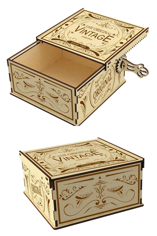 Vector model for laser cut Wooden SAFE V3 Instant download