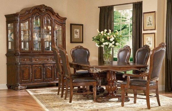Top Art Furniture Regal Double Pedestal Dining Room Set Art For ...