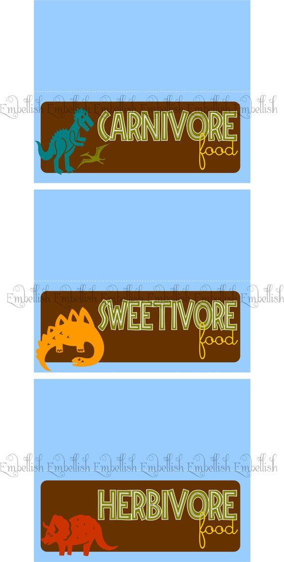PRINTABLE DIGITAL FILE Dinosaur Party Printables Party printables