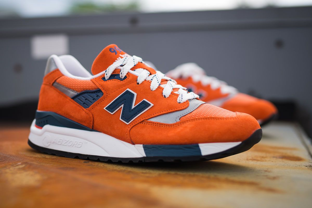 "New Balance 998 ""Orange & Navy"""