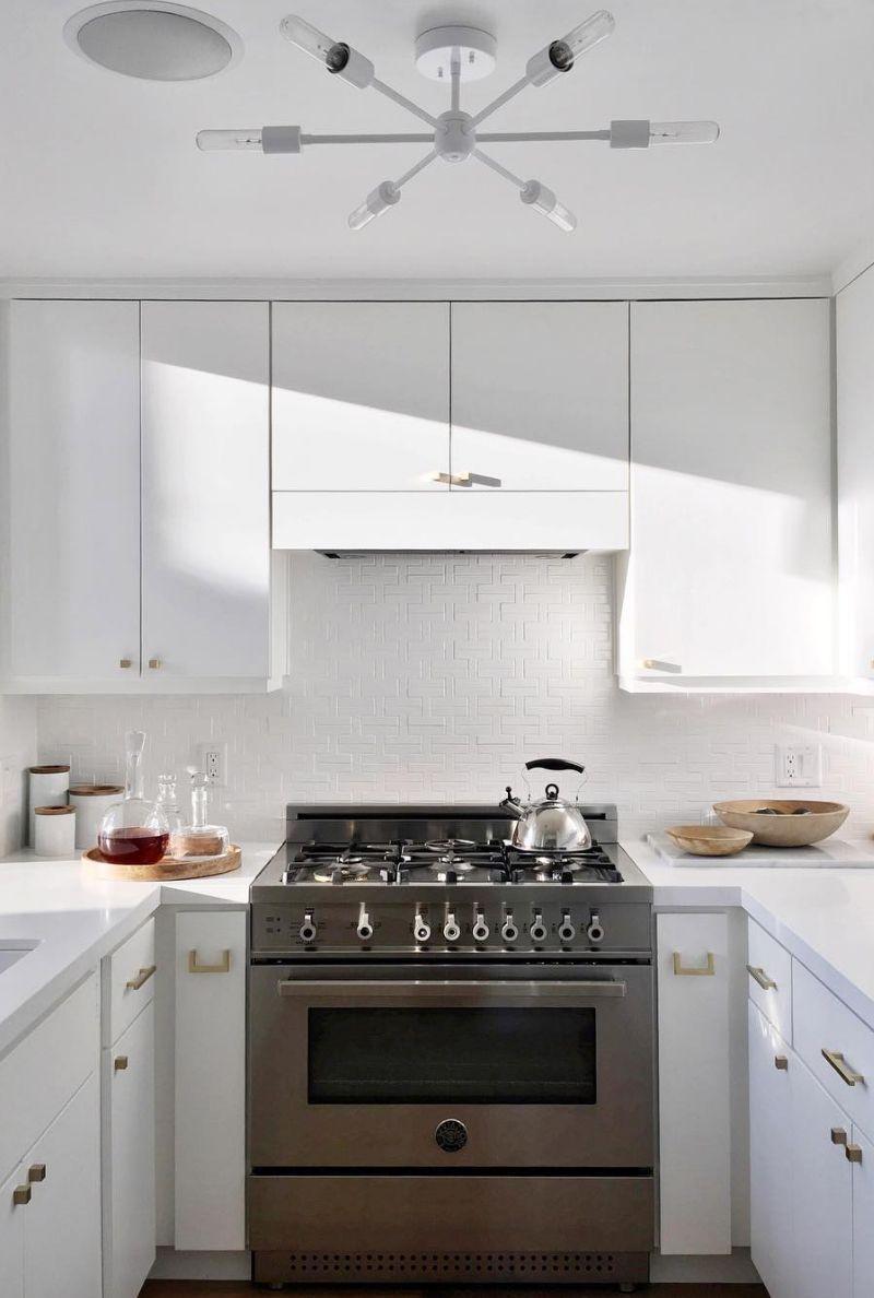White kitchen with patterned tile backsplash kitchen pinterest white kitchen with patterned tile backsplash dailygadgetfo Gallery