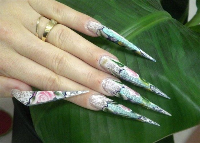New Stiletto nail shape - Obele made by Virginie Dolle ~ Why? lol ...