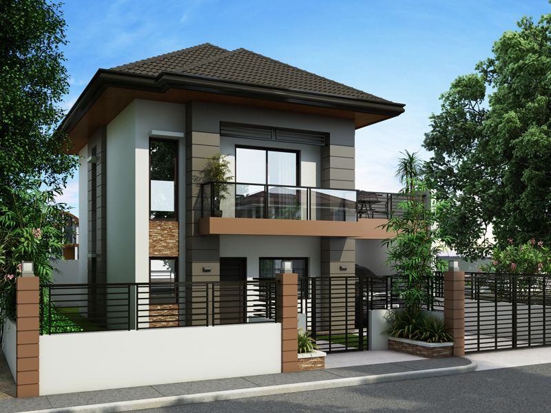 Php 2014012 is a two story house plan with 3 bedrooms 2 for Modern house plans 3 story