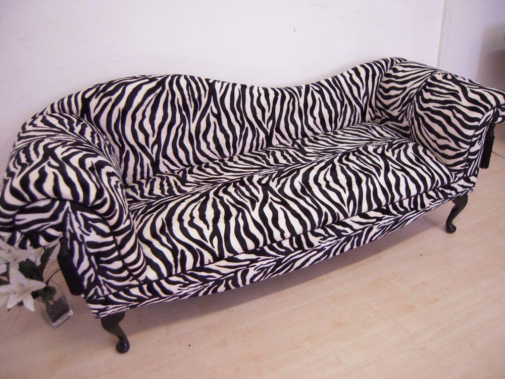 Zebra Animal Print Chaise Longue 6ft Double Ended Sofa Animal Print Furniture Uk Home Furniture Diy Furnitu Animal Print Furniture Furniture Uk Furniture