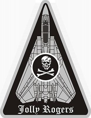 Pegatina USN vf 103 escuadrón de cazas Jolly Roger