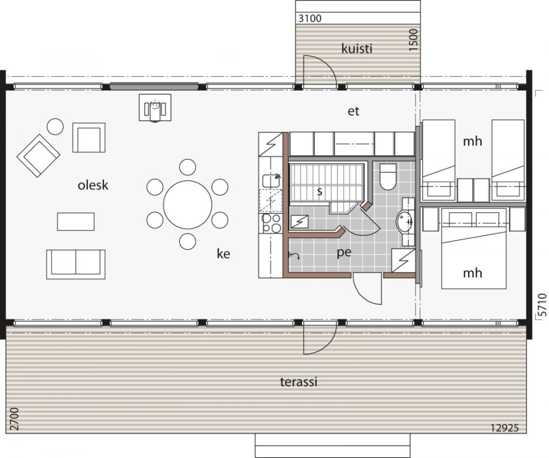 Glass House 80 Log Cabin Kontio In 2020 Bungalow Style House
