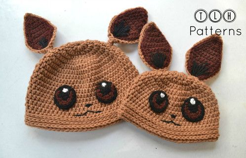 Pokemon Eevee hat | Вязание, вышивка | Pinterest