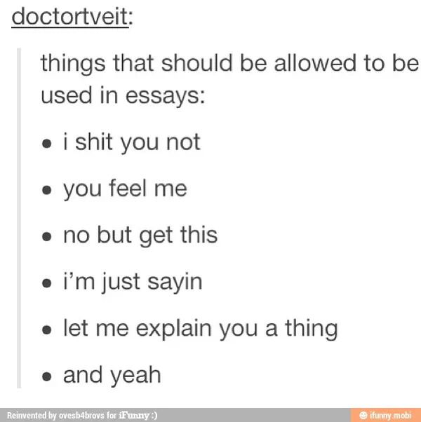 Essay saying that should be allowed