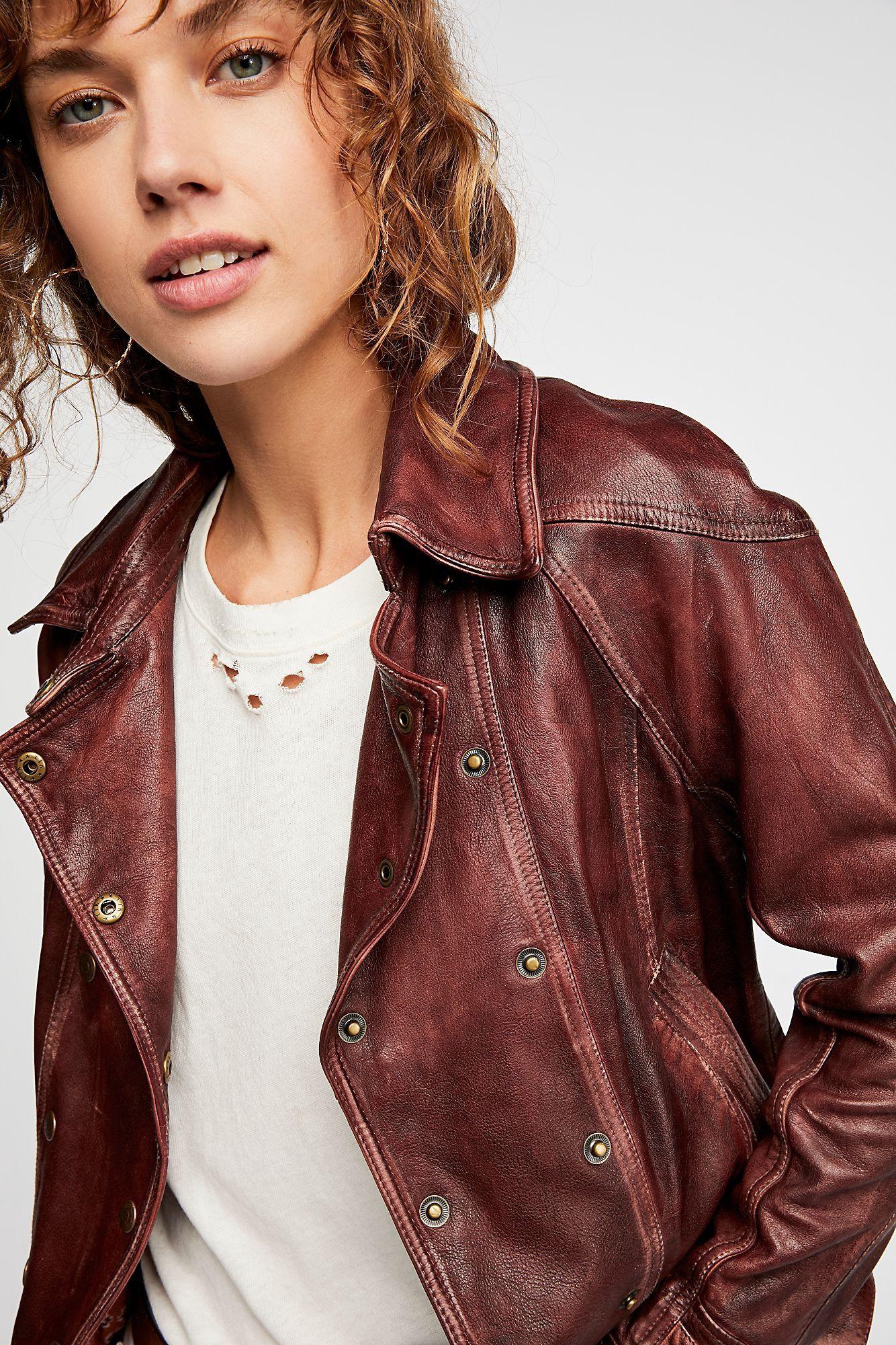 Free People Avis Leather Jacket Dusty Brown Xs Free People Leather Jacket Leather Jacket Distressed Leather Jacket [ 2000 x 1334 Pixel ]