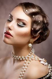 Ballroom hair inspiration - retro.   I like it