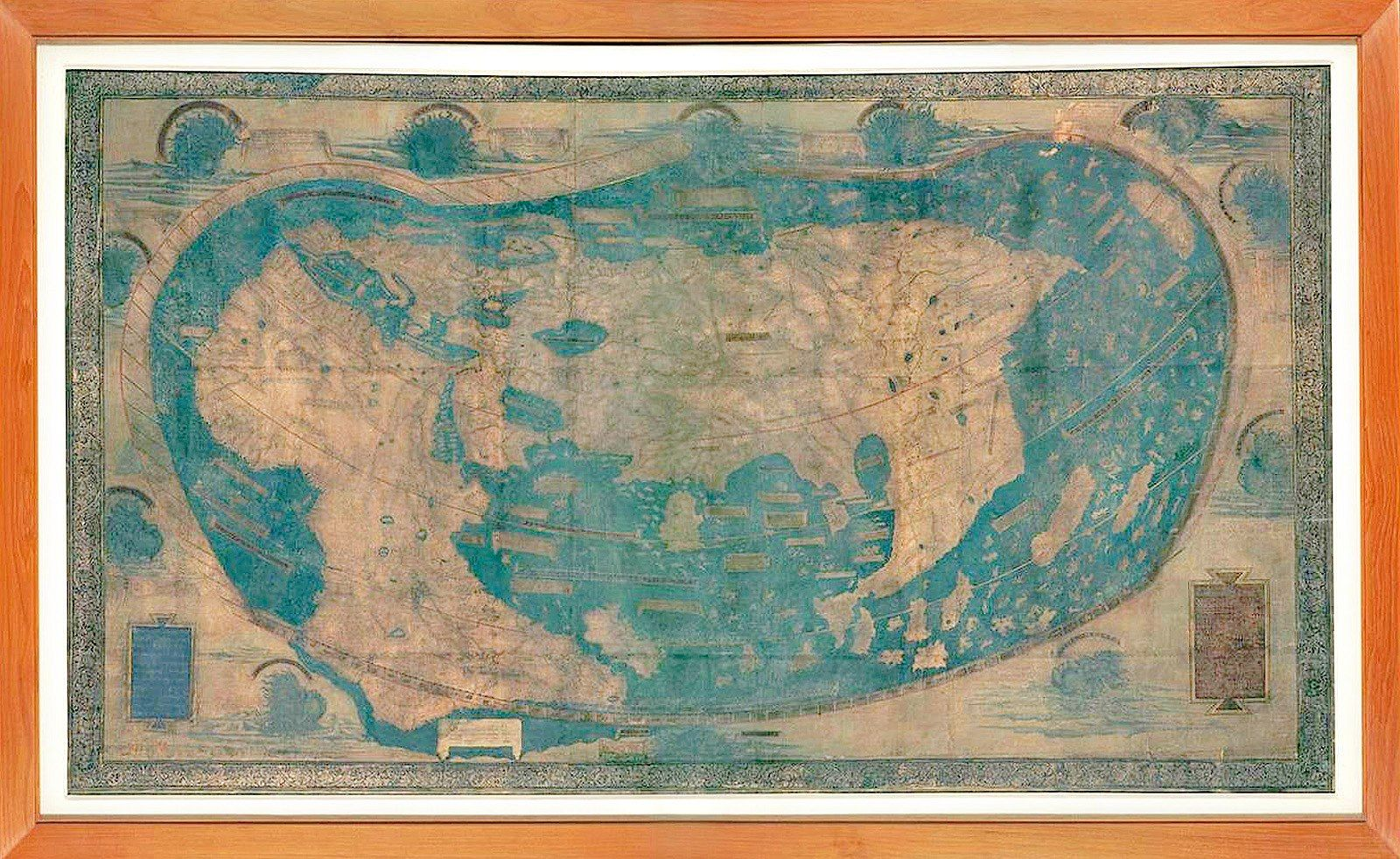 Mapa Sveta Kterou Nakreslil Nemecky Kartograf Henricus Martellus