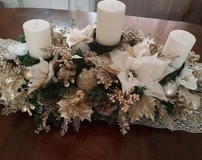 Photo of Christmas Centerpiece / XL Christmas Centerpiece/ Holiday | Etsy