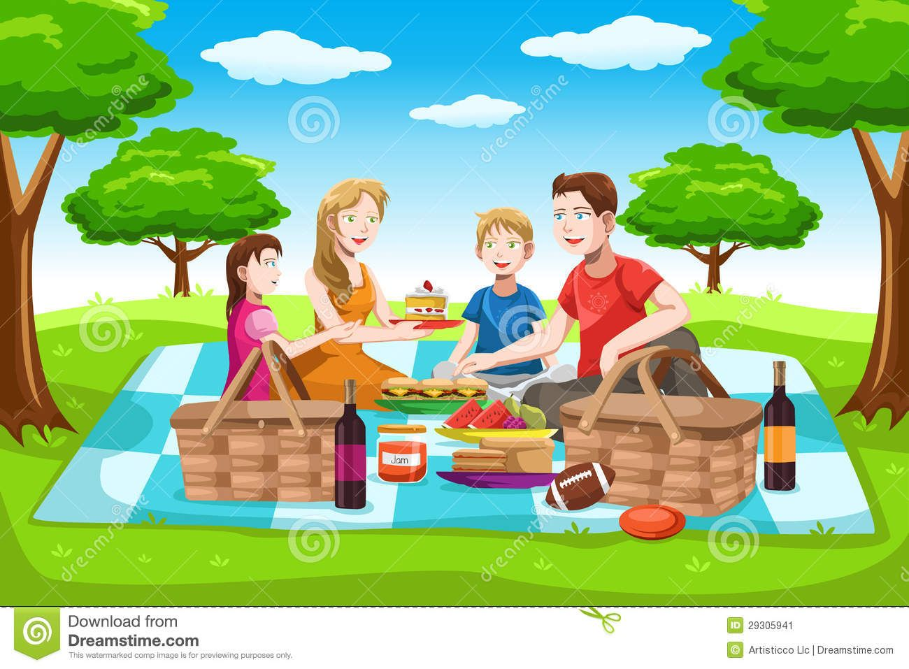 small resolution of picnic stock illustrations vectors clipart 5 164 stock