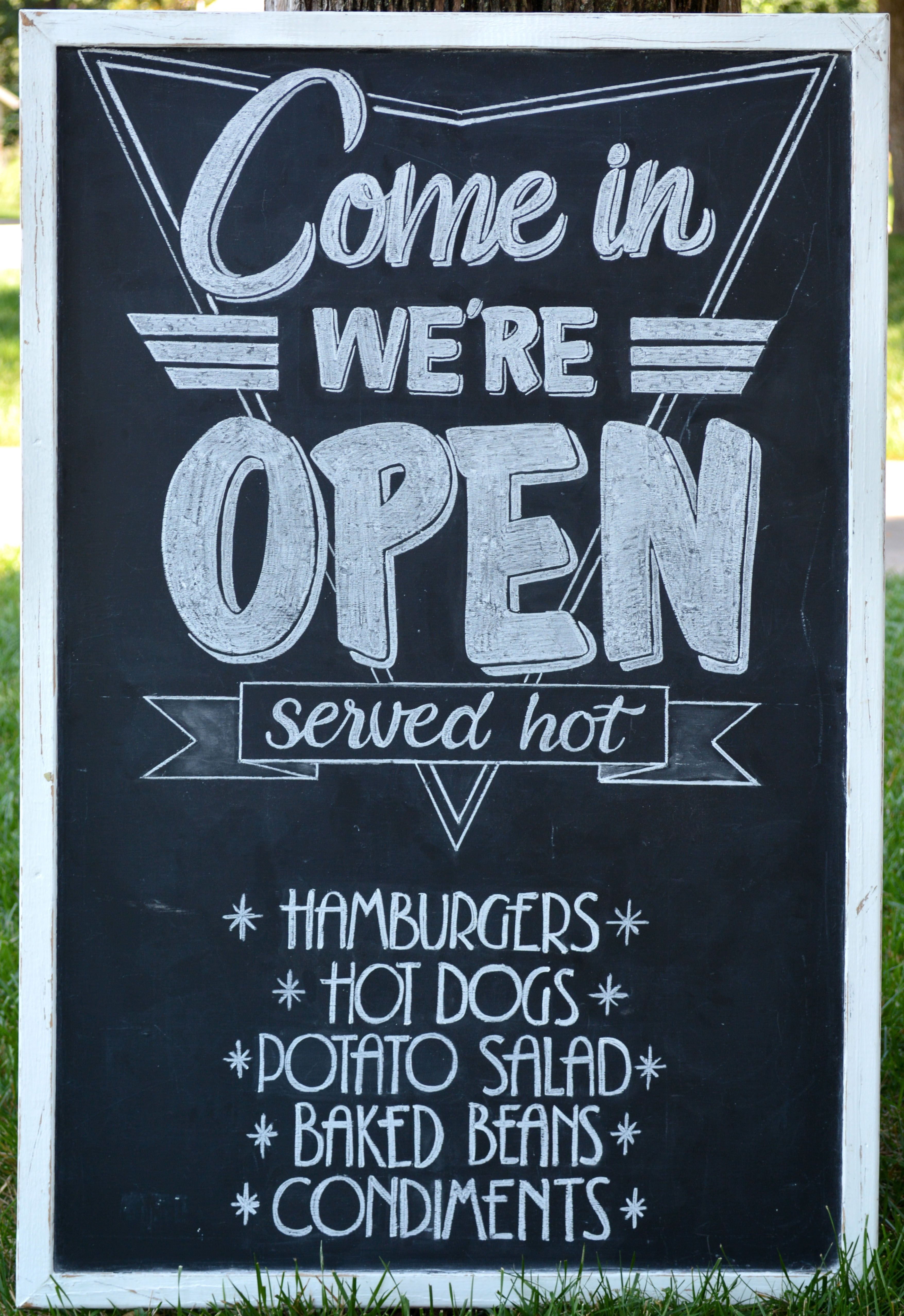 1950 s diner style chalkboard sign retro wedding reception with