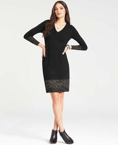 e4bb5b70011 Petite Colorblocked V-Neck Sweater Dress