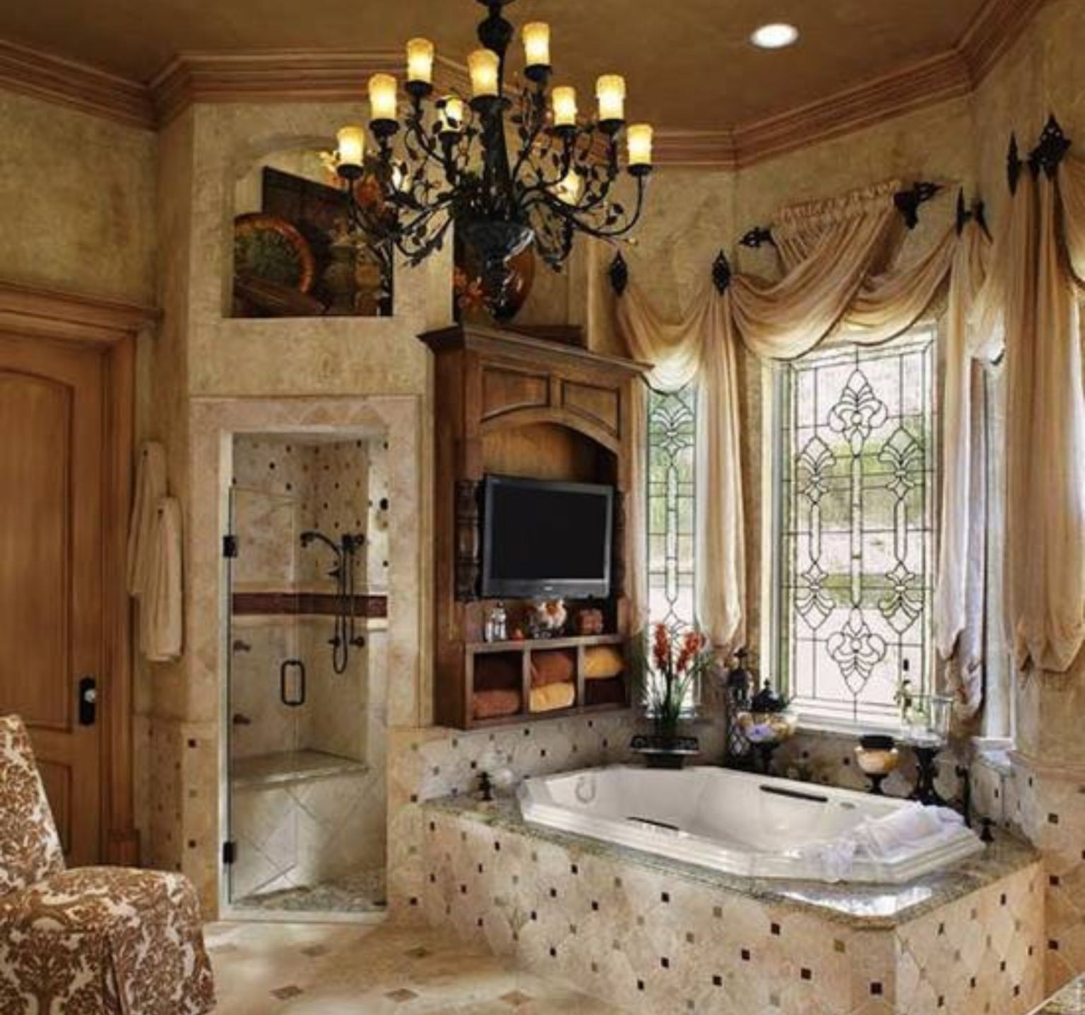 Gorgeous Bathroom Window Treatments !