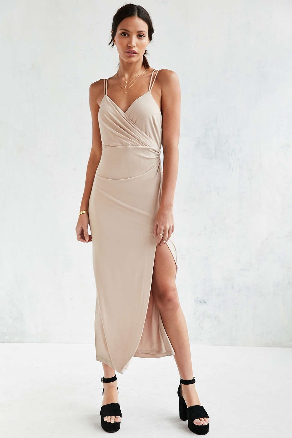 Bardot Nude Cinched Maxi Dress | Bardot, Maxi dresses and Dress ...