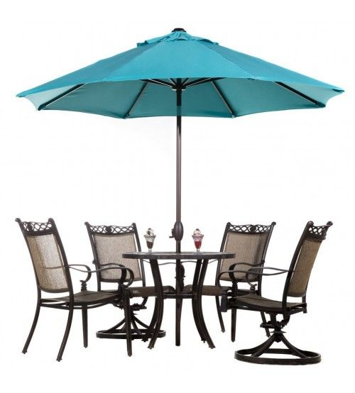 Abba Patio 9u0027 Fade Resistant Sunbrella Fabric Aluminum Patio Umbrella with Auto Tilt and Crank Alu. 8 Ribs Turquoise  sc 1 st  Pinterest & Abba Patio 9u0027 Fade Resistant Sunbrella Fabric Aluminum Patio ...