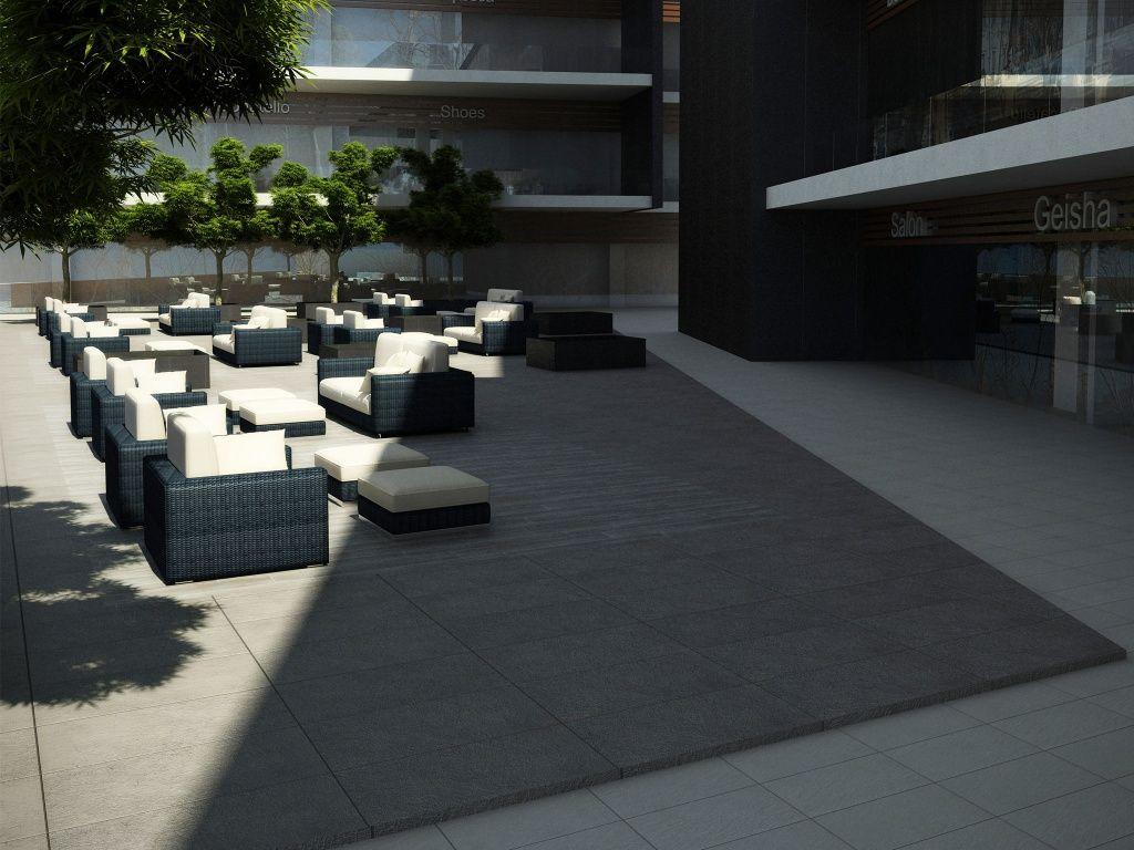 Imagen de pisos y azulejos deexteriores terrazas for Porcelanato interceramic