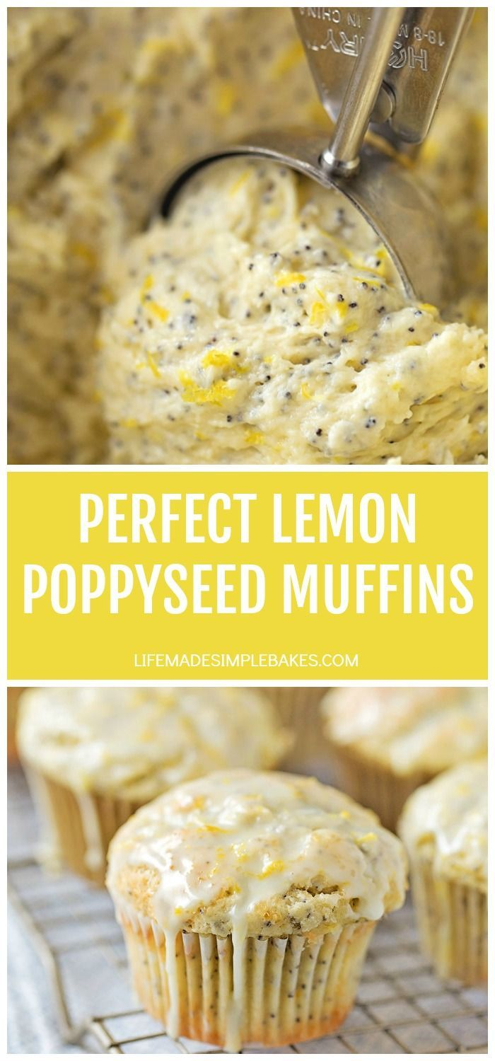 Photo of Perfect Lemon Poppy Seed Muffins – Life Made Simple