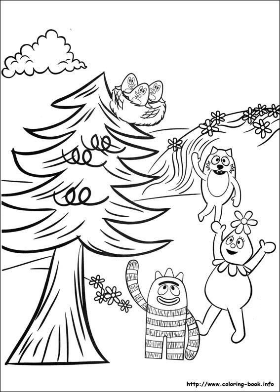 Yo Gabba Gabba! coloring picture   Coloring Pages   Pinterest   Yo ...