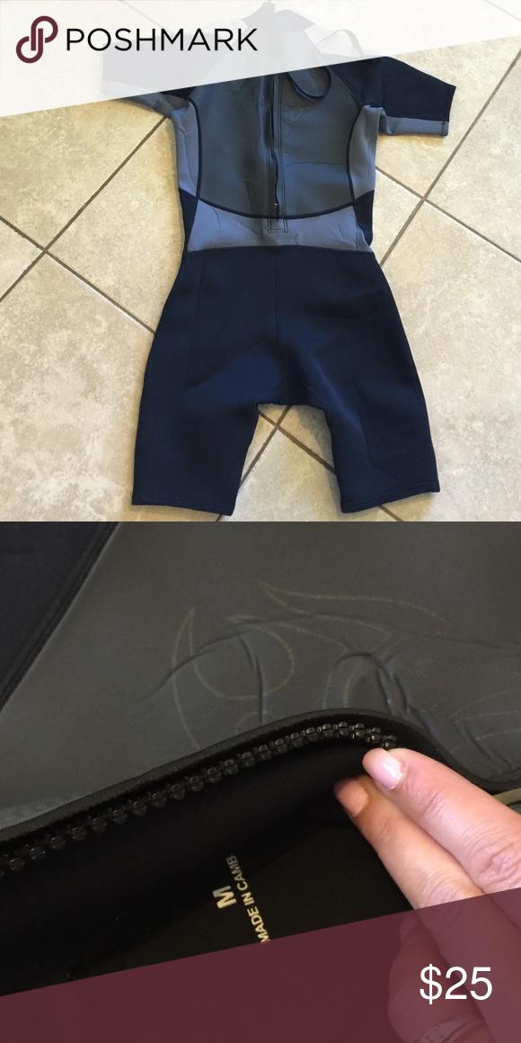 Scuba suit shorts one piece Size medium. Gender unknown Swim One Pieces