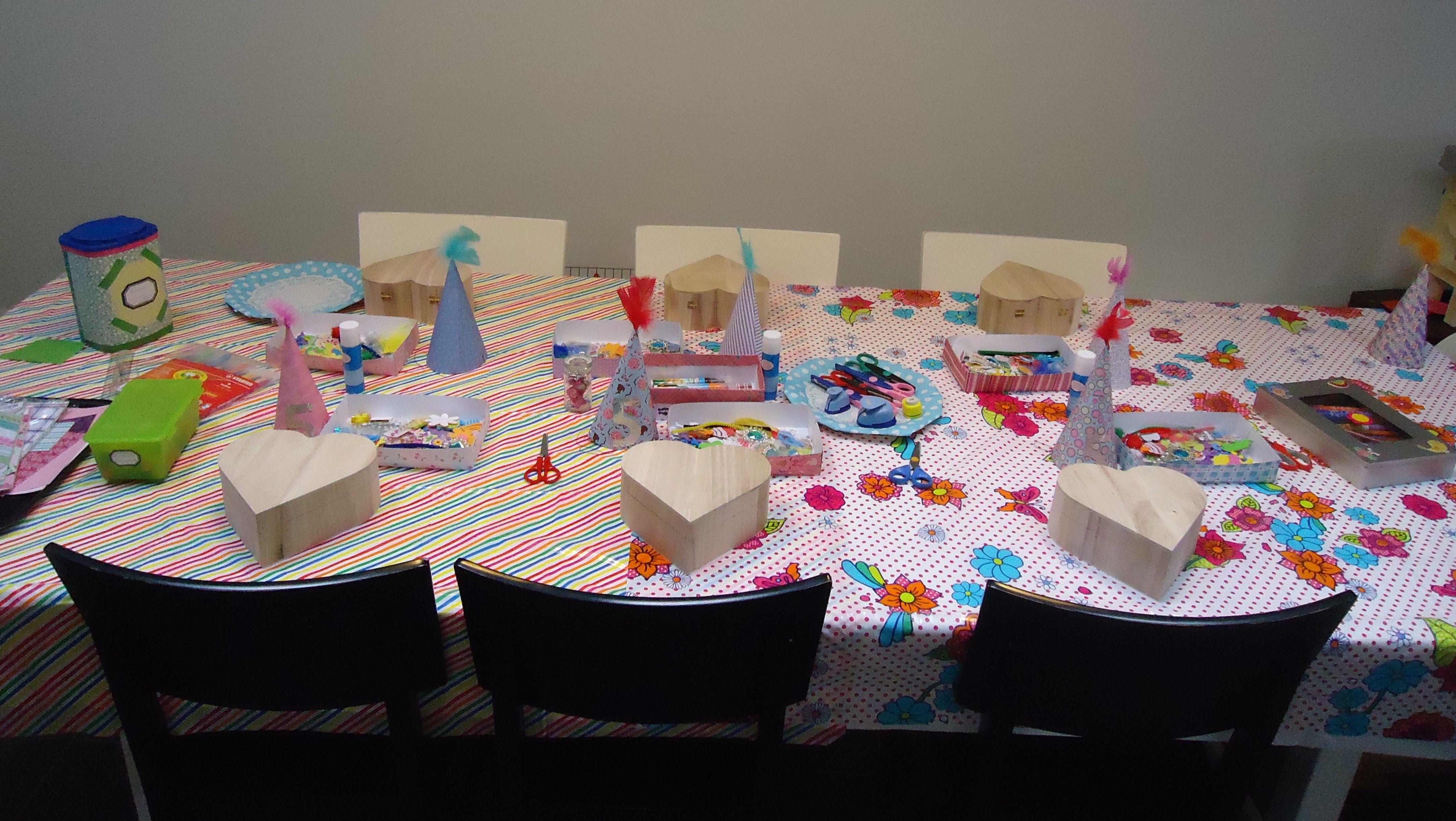 Diy verjaardag knutselfeest tafel kinderpartijtje maud for Decoratie verjaardag