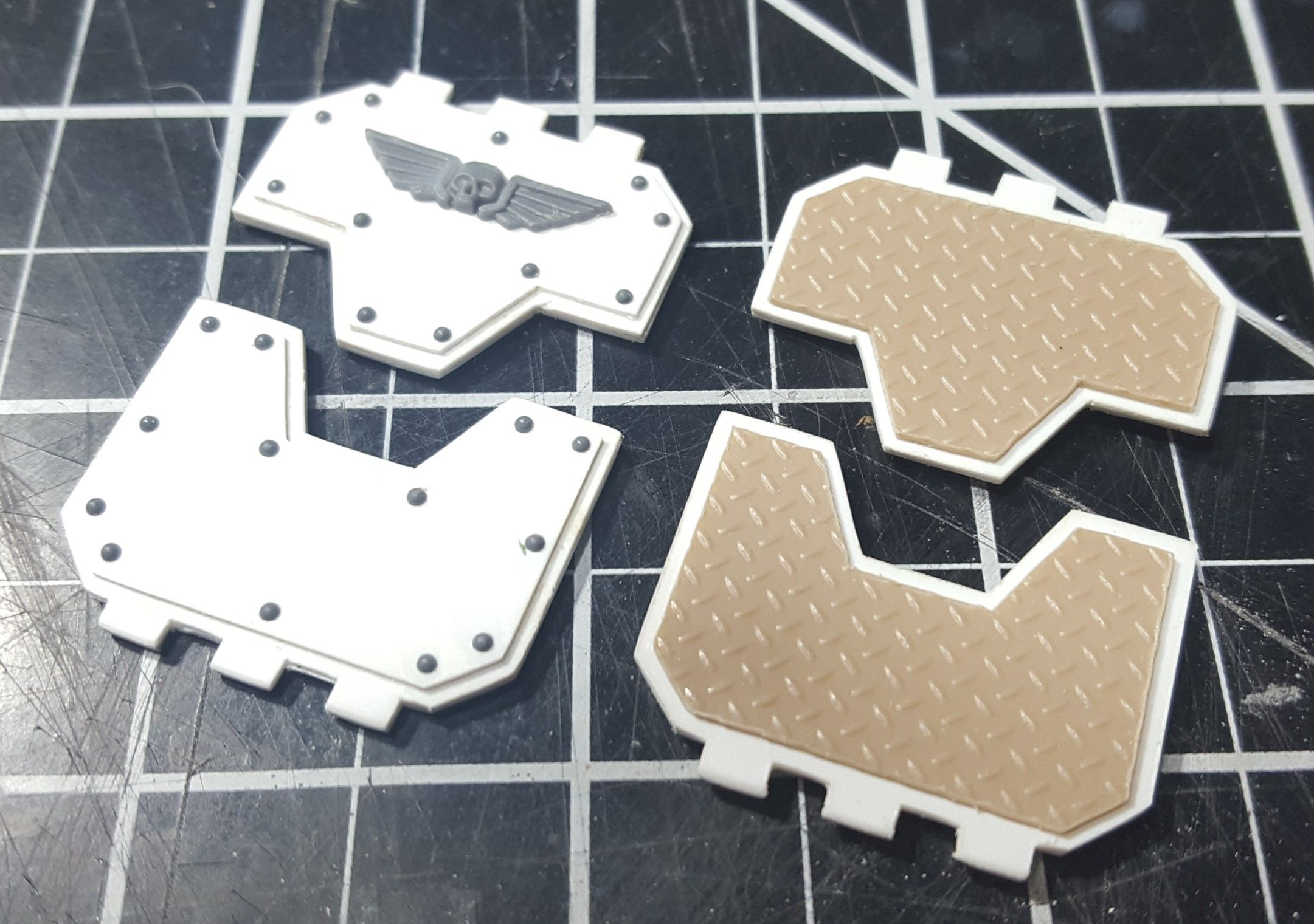 Use A Desktop Vinyl Cutter To Score Polystyrene Sheets To Build Custom Parts Here Two Landraider Doors Were Cons Cool Things To Make Scrapbook Custom Stencils
