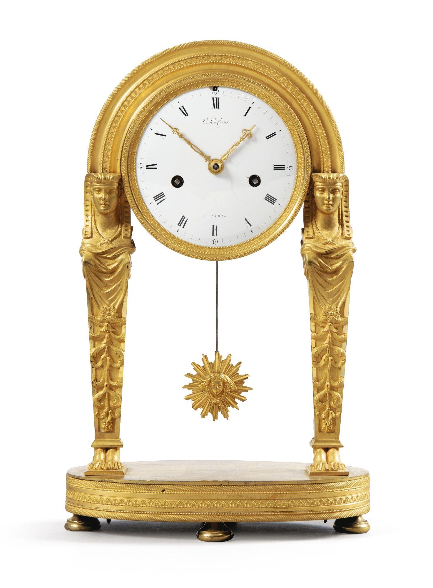 Date Unspecified A French Empire Gilt Bronze Mantel Clock Estimate 800 1 200 Eur Lot So Antique Pendulum Wall Clock Vintage Clock Classic Clocks