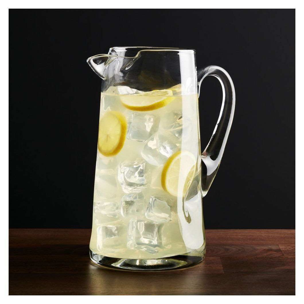 Impressions Pitcher Glass Pitcher With Lid In 2020 Crate And Barrel Glass Pitchers Drink Pitcher