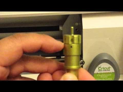 Cricut Personal Cutter CRV001- Vol 3 / Part 1 (Blade Changing)