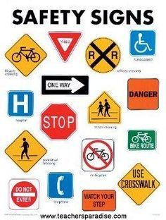 Safety signs worksheets