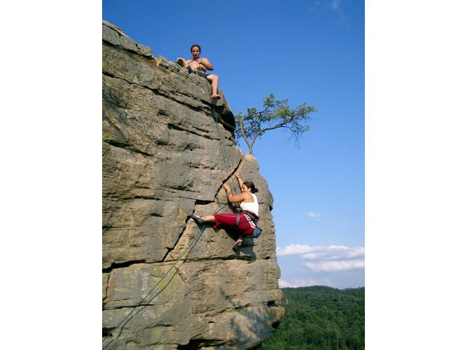 Bedtime for Bonzo Red River Gorge KY. Great climb with great exposure.