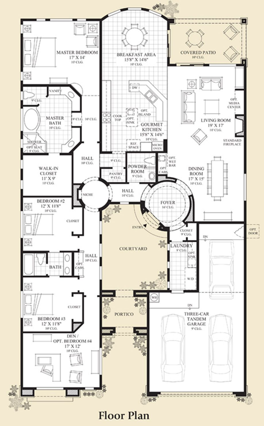 New Luxury Homes For Sale In Cave Creek Az Montevista Palo Verde Collection Courtyard House Plans Home Design Floor Plans House Blueprints