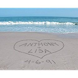 Personalized Sand Writing Wedding Wall Art
