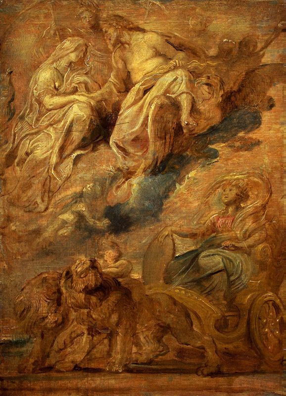 Pieter Paul Rubens, history paintings - Arrival in Lyon