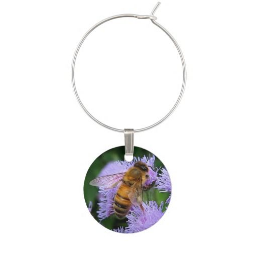 Honey Bee Wine Charm