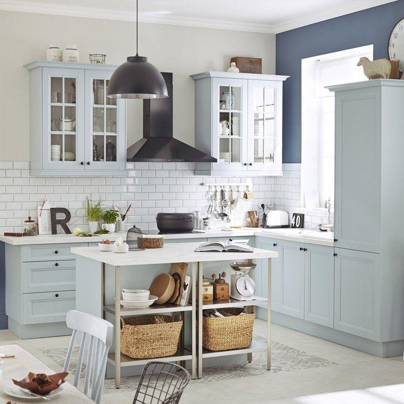 Meuble De Cuisine Bleu Delinia Ashford Meuble Cuisine Cuisines Design Meuble Haut Cuisine