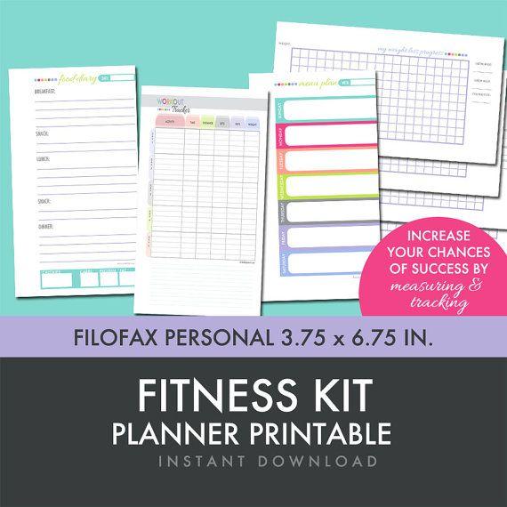 NEW for November - Fitness Planner Printables Kit - Fits in Filofax