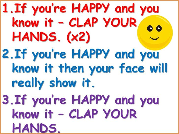Nursery Rhymes If You Are Happy And You Know It Clap Your Hands Lyrics