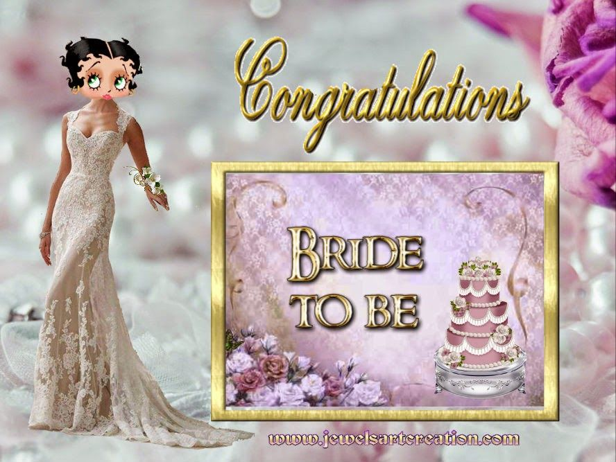 Jewels Art Creation: Bride to be Betty Boop