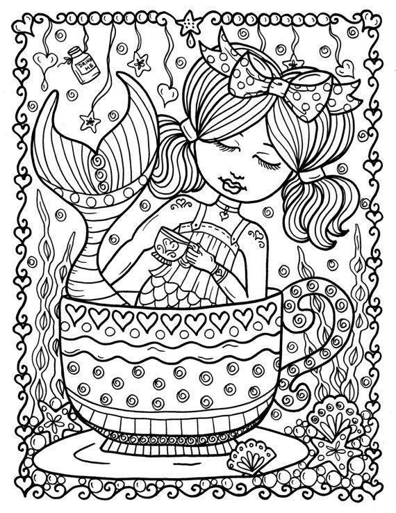 Alice In Waterland Coloring Book Adult Coloring Wonderland Art