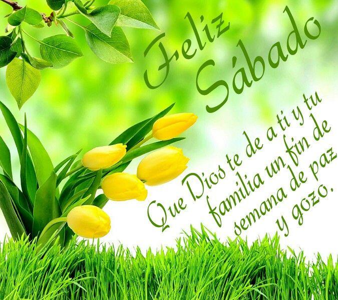 Feliz Sabado Que Dios Te De A Ti Y Tu Familia Un Fin De Semana De