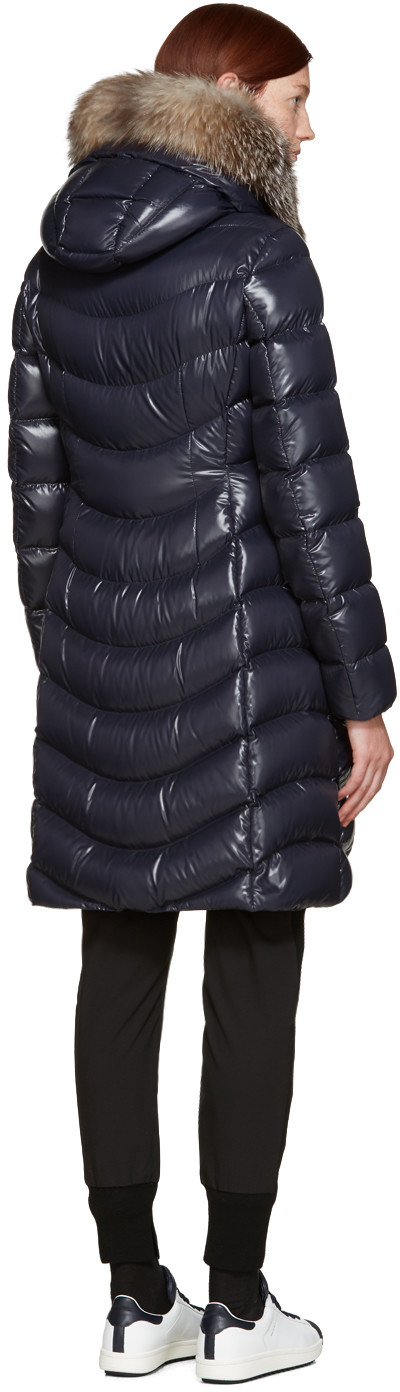 d0438760c Moncler - Navy Down Aphia Coat | WOMEN'S FASHION | Puffy jacket ...