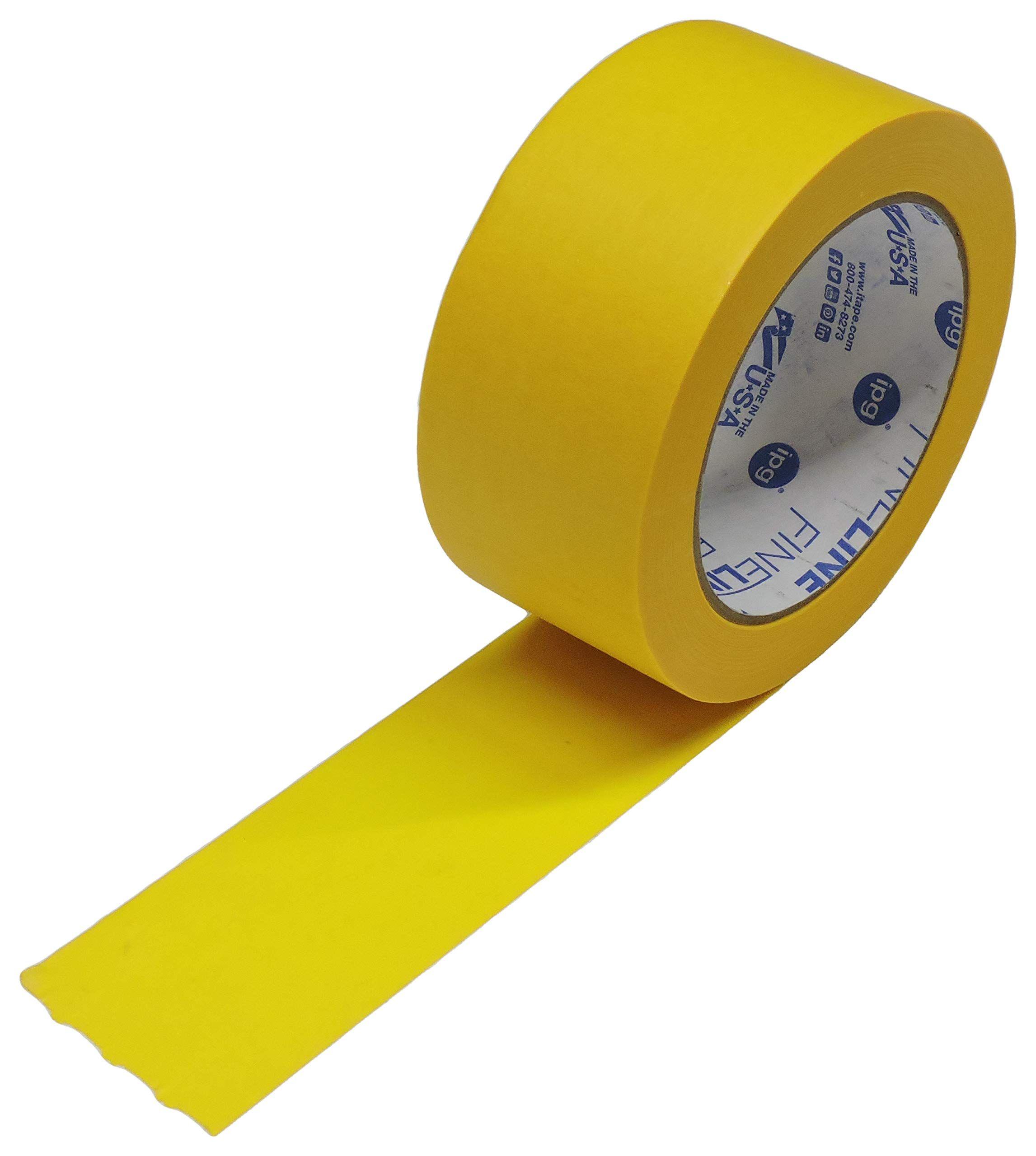 Ipg Fineline 2 X 60yd Precision Mask Yellow Painters Masking Tape Razor Edge Pro Grade Cabinet Automotive Fine Edge Trim Tape Yo Masking Tape Adhesives Tape