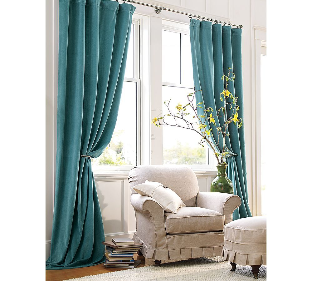 Mother May I  Velvet Drapes Barn And Bedroom Drapes Magnificent Teal Living Room Curtains Decorating Inspiration