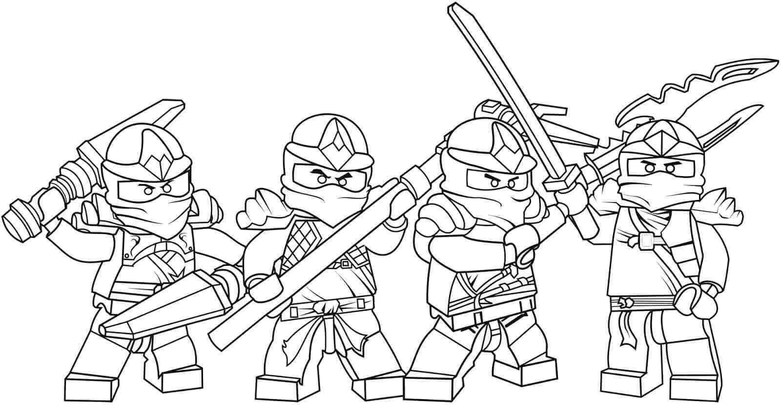 Lego Ninjago Coloring Pages Free With Images