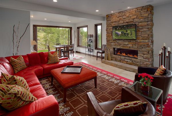 Red Couch and Loveseat - living room | Red couch living ...